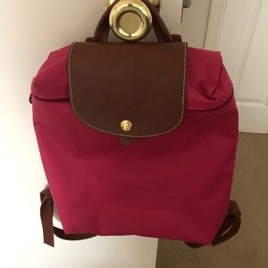 Pink Longchamp backpack- offers welcome!
